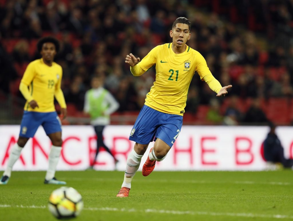 Brazil and Liverpool striker Roberto Firmino