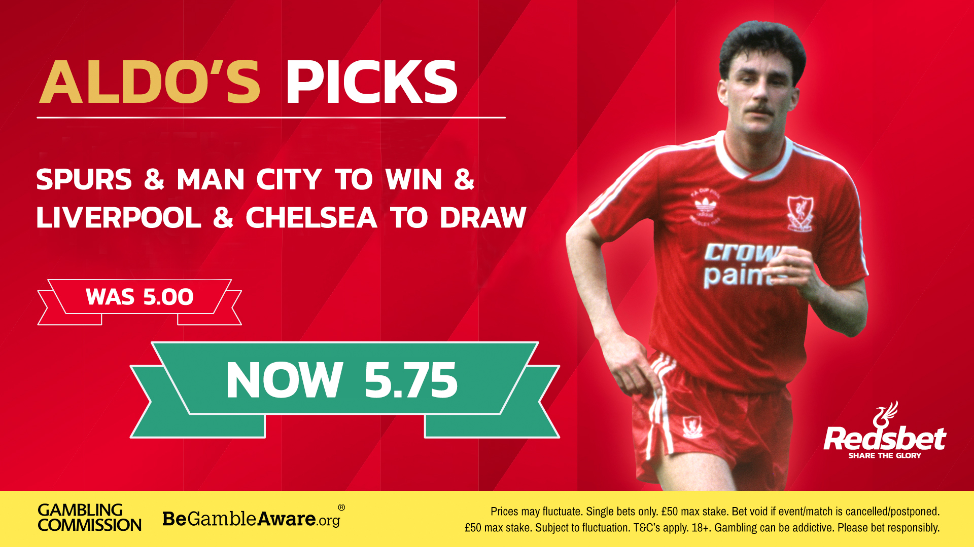 ALDO'S PICKS: Take a look at John Aldridge's tips this weekend with RedsBet